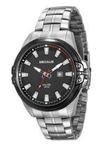 Relógio seculus masculino prata 23575gpsvca2 -
