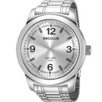 Relógio Seculus Masculino Prata 23639G0SVNA2 -