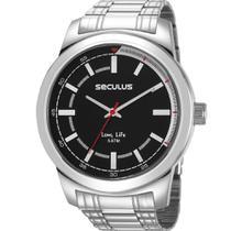 Relógio Seculus Masculino Prata 23643G0SVNA1 -