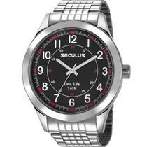 Relógio Seculus Masculino Prata 23644G0SVNA1 -