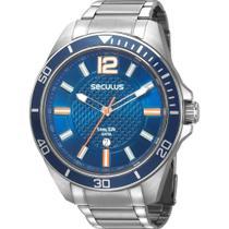 Relógio Seculus Masculino Prata 77036G0SVNA2 -