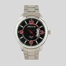Relógio Seculus Masculino Prata Analógico Aço Inoxidável 23647G0SVNA2 -