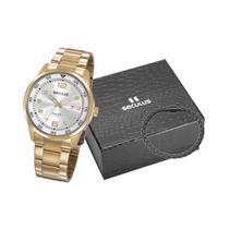 Relógio Seculus Masculino Prata E Dourado 20802GPSVDA1K1 -