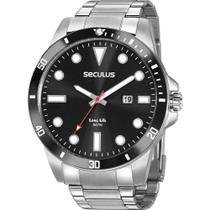 Relógio Seculus Masculino Prata Long Life 20789G0SVNA1 Analógico 5 Atm Cristal Mineral -