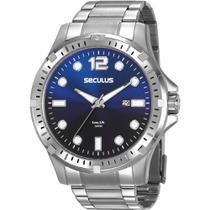 Relógio Seculus Masculino Prata Long Life 20800G0SVNA1 Analógico 5 Atm Cristal Mineral -