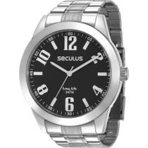 Relógio Seculus Masculino Prata Long Life 28936G0SVNA2 -