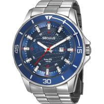 Relógio Seculus Masculino Prata Long Life 28994G0SVNA2 -