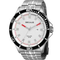 Relógio Seculus Masculino Prata Long Life 28998G0SVNA2 Analógico 5 Atm Cristal Mineral -
