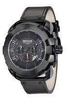 Relógio seculus masculino preto couro 20467gpsvpc1 -