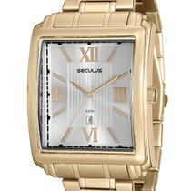 Relógio Seculus Masculino Quadrado 23574GPSVDA1 Dourado -