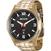 Relógio Seculus Masculino Ref: 20571gpsvda1 Casual Dourado -