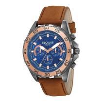Relógio Seculus Masculino Ref: 20591gpsvsc1 Cronógrafo Black -