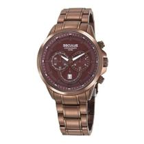 Relógio Seculus Masculino Ref: 20617gpsvma2 Cronógrafo Chocolate -