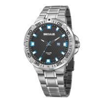 Relógio Seculus Masculino Ref: 20757g0svna1 Esportivo Prateado -