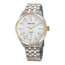 Relógio Seculus Masculino Ref: 20797gpsvba2 Big Case Bicolor -