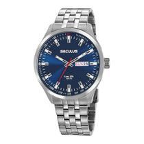 Relógio Seculus Masculino Ref: 20798g0svna1 Clássico Prateado -