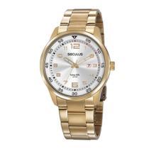 Relógio Seculus Masculino Ref: 20802gpsvda1 Casual Dourado -