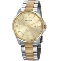 Relógio Seculus Masculino Ref: 20805gpsvba2 Clássico Bicolor -