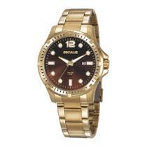Relógio Seculus Masculino Ref: 20856gpsvda1 Esportivo Dourado -