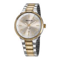 Relógio Seculus Masculino Ref: 23623gpsvba1 Casual Bicolor -