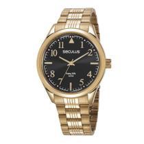 Relógio Seculus Masculino Ref: 23640gpsvda3 Casual Dourado -