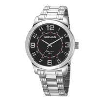 Relógio Seculus Masculino Ref: 23641g0svna2 Casual Prateado -