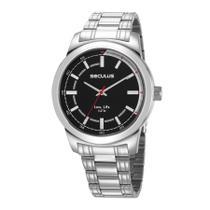 Relógio Seculus Masculino Ref: 23643g0svna1 Casual Prateado -