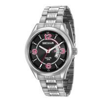 Relógio Seculus Masculino Ref: 23647g0svna2 Esportivo Prateado -