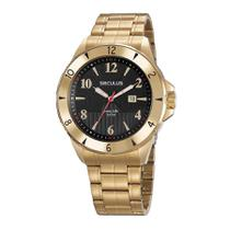 Relógio Seculus Masculino Ref: 23651gpsvda1 Casual Dourado -
