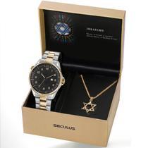 Relógio Seculus Masculino Ref: 23685gpskba2 Bicolor Judaísmo -