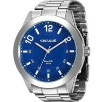 Relógio Seculus Masculino Ref: 28883g0svna2 Casual Prateado -