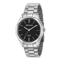 Relógio Seculus Masculino Ref: 28935g0svna2 Casual Prateado -