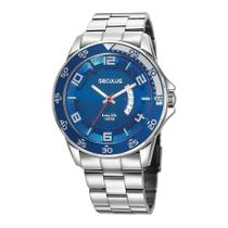 Relógio Seculus Masculino Ref: 28961g0svna1 Esportivo Prateado -