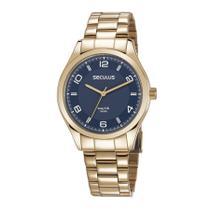 Relógio Seculus Masculino Ref: 28975gpsvda3 Casual Dourado -