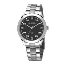 Relógio Seculus Masculino Ref: 28976g0svna1 Casual Prateado -