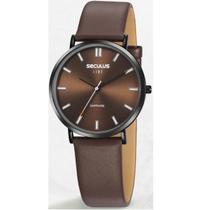 Relógio Seculus Masculino Ref: 35029gpsvpc1 Slim Black -