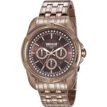 Relógio Seculus Metal Marrom Strass Original 20626LPSVRS2 -