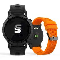 Relógio SECULUS Smartwatch preto laranja 79004G0SVNV1 -
