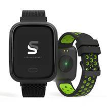 Relógio SECULUS Smartwatch quadrado preto 79006MPSVPE2 -