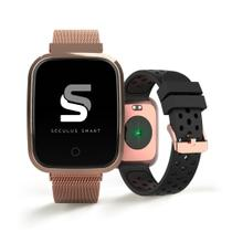 Relógio seculus smartwatch rosé troca pulseira 79006mpsvre3 -