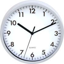 Relógio Silencioso De Parede Branco 25cm Ponteiro Contínuo - Yazi