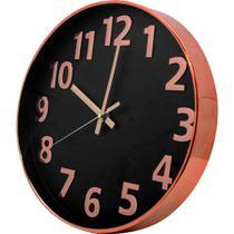 Relógio Silencioso De Parede Bronze 30cm Ponteiro Contínuo - Yazi