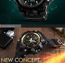 Relógio Skmei 1155B Militar Digital / Analógico + Caixa Estojo em Acrílico -