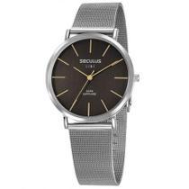 Relógio Slim Seculus Masculino Vidro de Safira 35009G0SVNA1 -