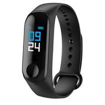 Relógio Smart Bracelet M3 Bluetooth Monitor Cardíaco -