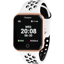 Relógio Smart Champion Smartwatch Bluetooth Branco e Rose CH50006W