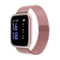 Relógio Smart Watch Esportivo T80 Bluetooth Android e IOS - Rosa - Smart Bracelet