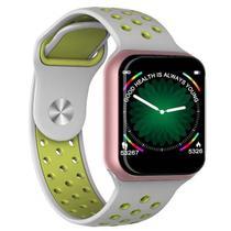 Relógio Smart Watch F8 Fitness Sport Cinza e Verde - Oem