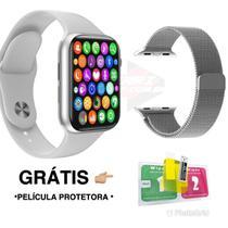 Relogio Smart watch Inteligente W26 Pro + Pulseira Metal +Pelicula - Branco 44mm - Lançamento 2021 - iwo