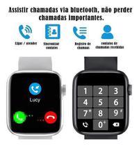 Relogio Smart watch Inteligente W26 +Pulseira Metal- Preto 40mm - iwo